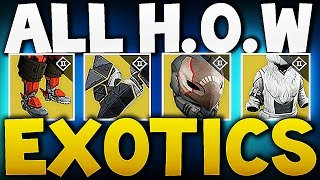 Destiny - All House of Wolves Exotics !!!