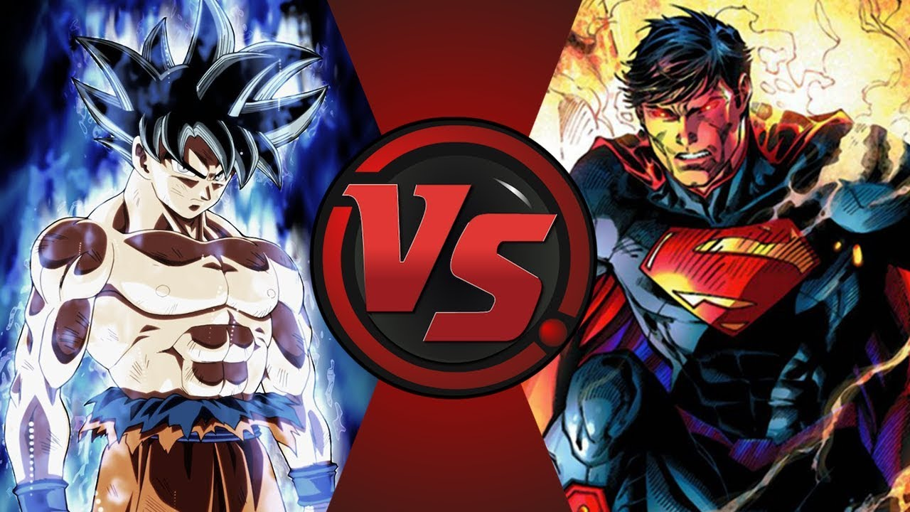 Ultra Instinct Goku Vs Superman Dragon Ball Super Vs Dc Comics