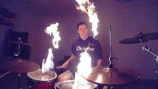 Drum Solo with Fire Sticks!