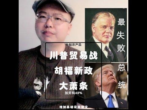 中美贸易战 特朗普关税政策是胡福新政2.0 美国大萧条 与世界贸易战美国成孤岛 最失败总统