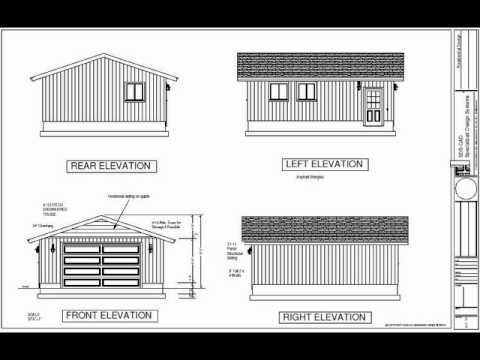 G495 22 X 26 X 9 Garage Plans In Dwg And Pdf Youtube