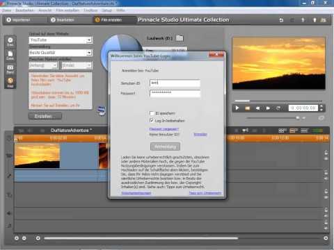 Filme im Internet YouTube in Pinnacle Studio 14 und 15
