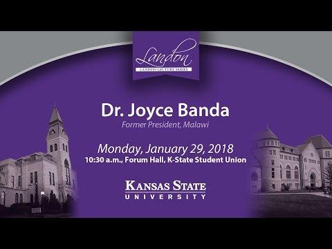 Landon Lecture | Dr. Joyce Banda
