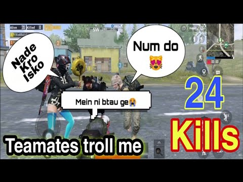 PAKISTANI GIRL PLAYING PUBG MOBILE   24 TEAM KILLS   FUNNY VOICE CHAT   NOOR GAMING