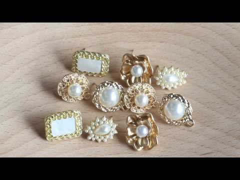 GUFEATHER,jewelry accessories,pearl,diy pendant,copper metal,hand made,diy earring,stud earring
