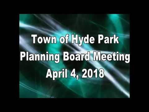 Hyde Park Planning Board 4-4-18