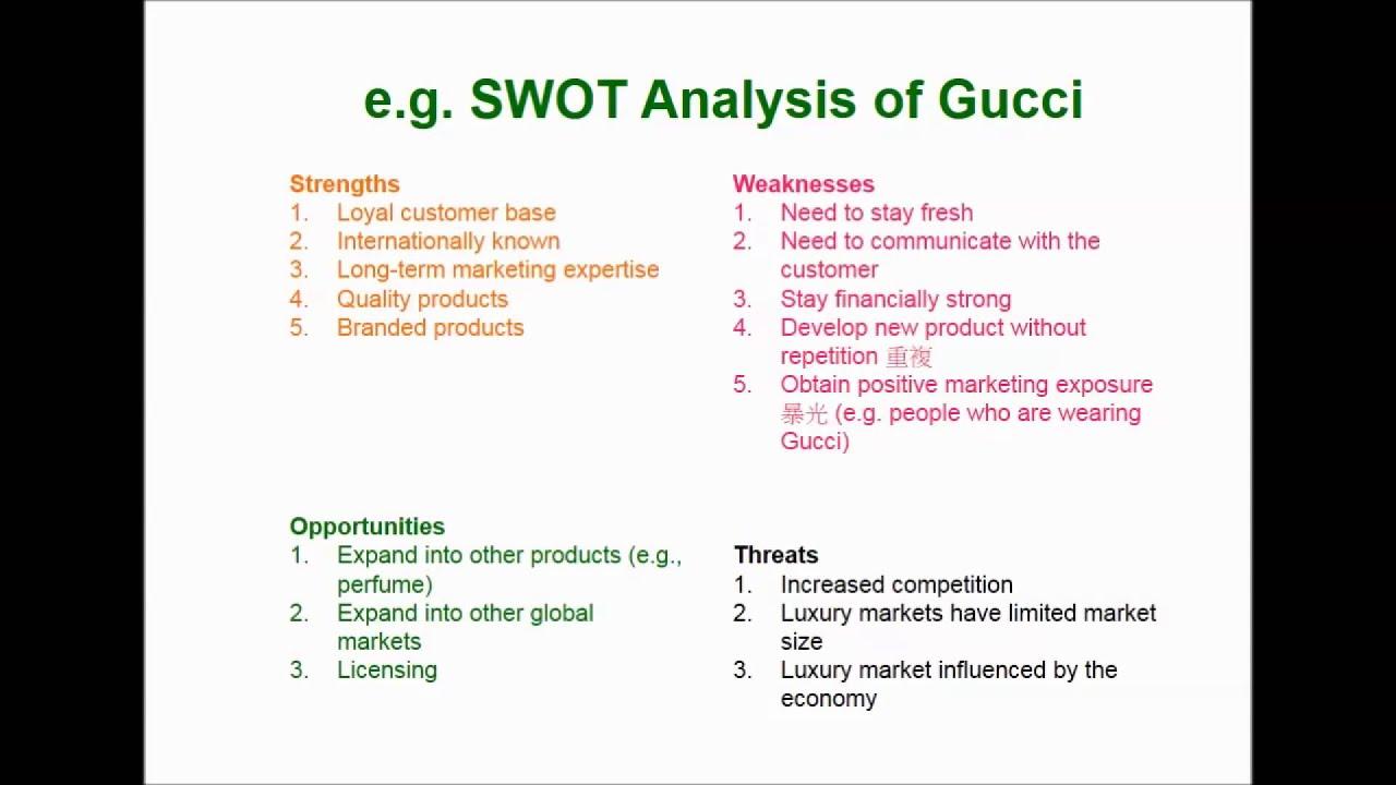 Swot analysis of luxury brand