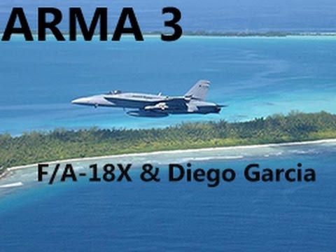 ARMA 3: F/A-18 Black Wasp & Diego Garcia Island Addon Showcase