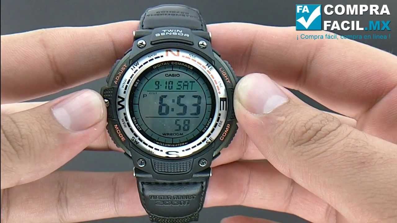 90b0f52740e Reloj Casio Outgear SGW100 - CompraFacil.mx - YouTube