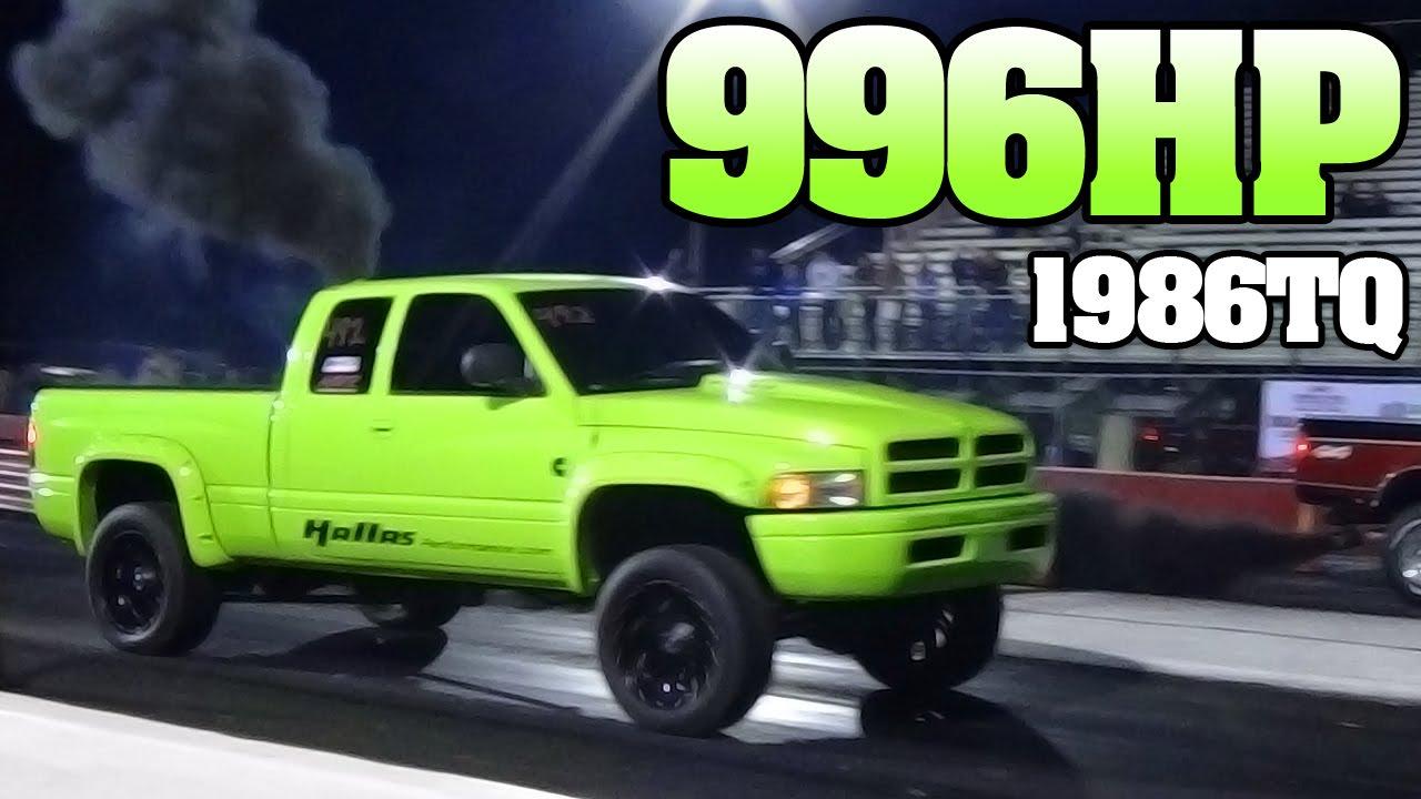 Cummins Turbo Diesel >> Fast Green Cummins Turbo Diesel Drag Racing 2013 Youtube