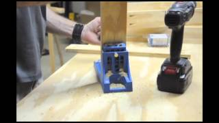 Making The Workbench Drawers With A Kreg Jig