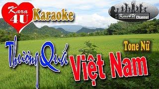 Thương quá Việt Nam Karaoke (Tone nữ) - Beat hay [Kara4U]