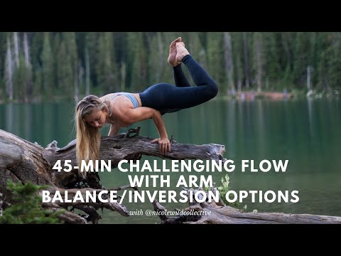 45-Minute Challenging Yoga Flow with Arm-Balance and Inversion Options