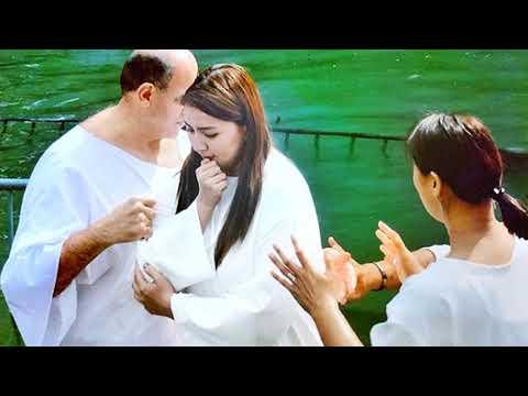 Ara Mina Gets Baptized In Jordan River