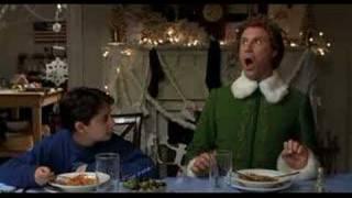 elf burping scene