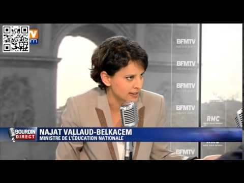 L'interview de Najat Vallaud-Belkacem sur BFM TV avec Jiminy Cricket
