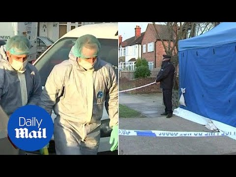 Forensics arrive at home of Russian businessman found dead - Daily Mail