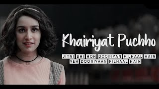 Khairiyat lyrics from chhichhore by arijit singh is hindi song featuring sushant rajput and shraddha kapoor. music of this track given pritam and...