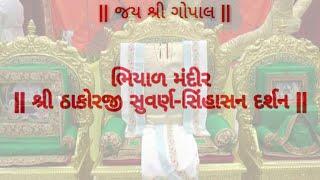 ભિયાળ મંદીર સુવર્ણ સિંહાસન દર્શન Bhiyad mandir suvarn sinhasan darshan