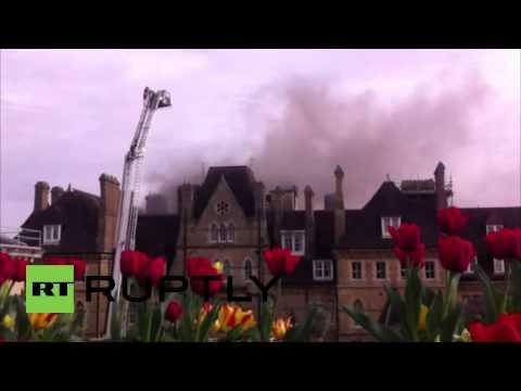 UK: Famous Randolph Hotel Ablaze In Oxford