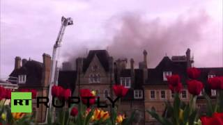 UK: Famous Randolph Hotel ablaze in Oxford