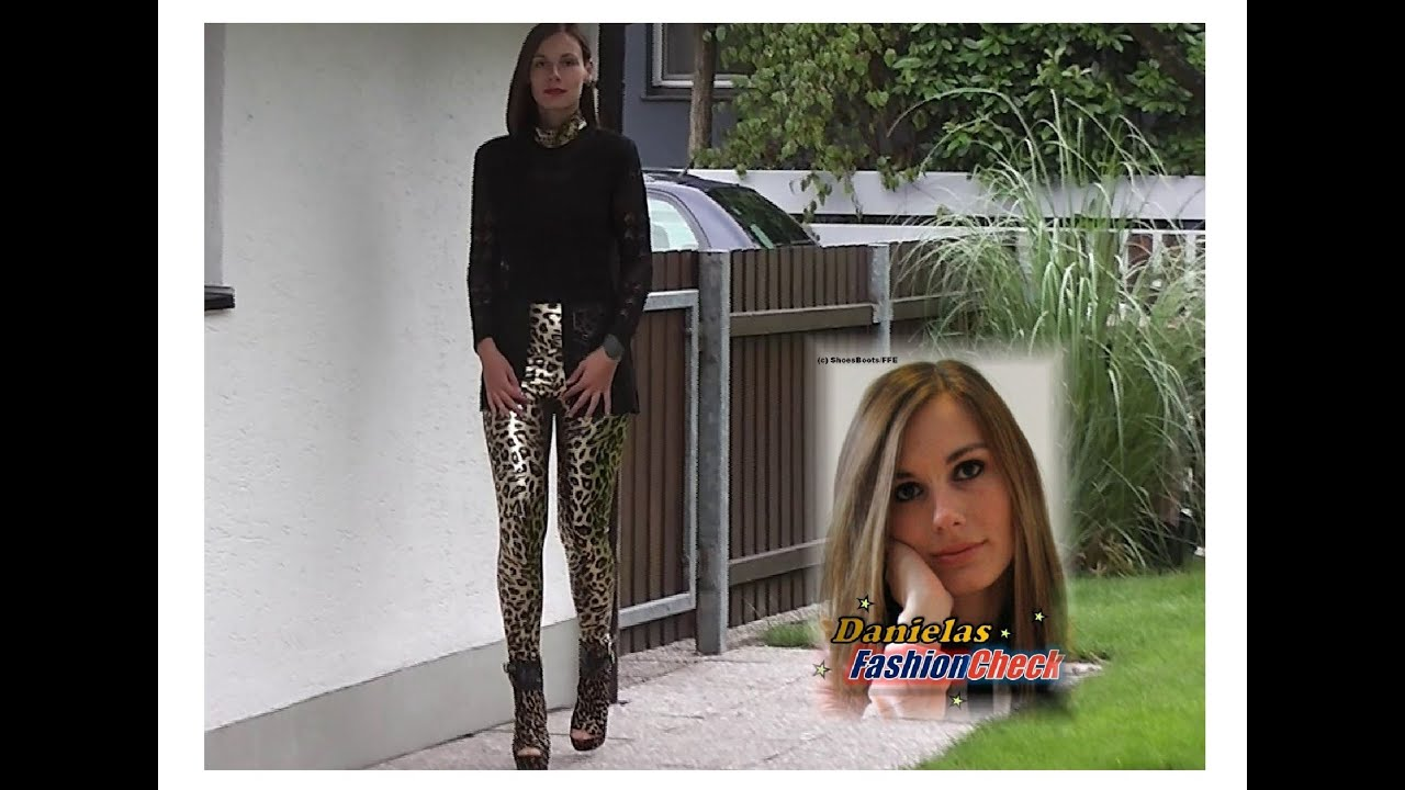 8ded36463894b Danielas FashionCheck #036: Booties (High-Heel/Plateau) / Leggings (shiny)