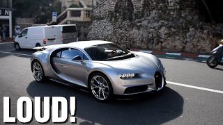 FIRST Bugatti Chiron SOUND, Accelerations, Revs on the road in Monaco!