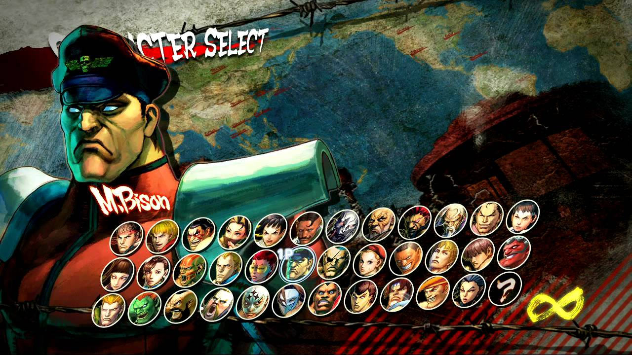 Super Street Fighter IV HD - Character selection screen ...