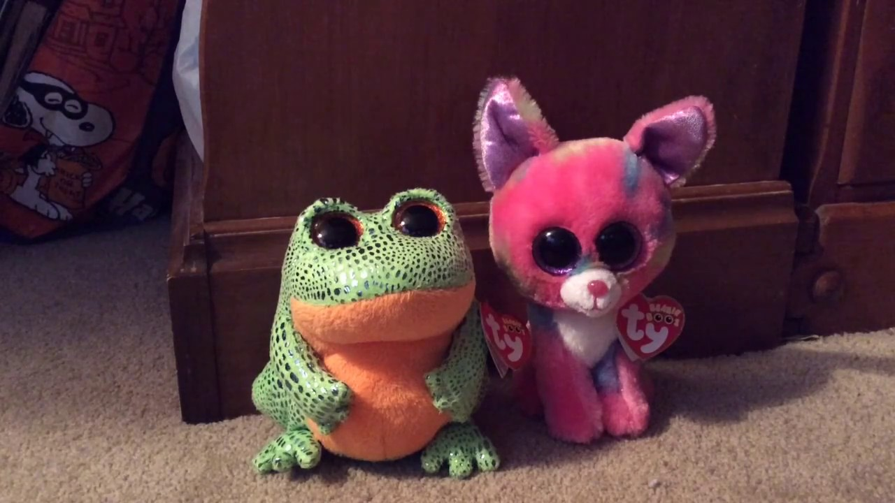 296ca3f373b New Beanie Boos Speckles the frog and Cancun - YouTube
