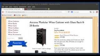 Ancona Modular Wine Cabinet With Glass Rack & 20 Bottle