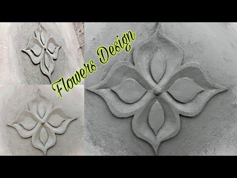 Wall flower design send cement and design. Raj m Bhadrak
