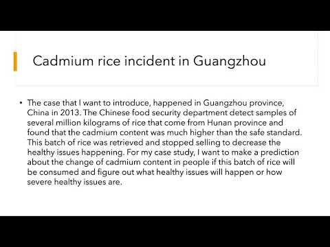 The case study of cadmium rice in Guangzhou