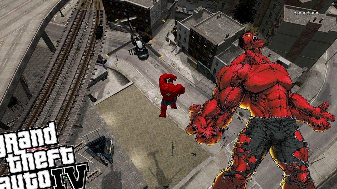 GTA 4 Red Hulk Mod - Red Hulk Attacks GTA IV Liberty City