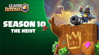 SEASON 10 OUT NOW - The Heist - Lots of Gold, a New Card and a Magic Archer emote! 👑🌳 (Clash Royale)
