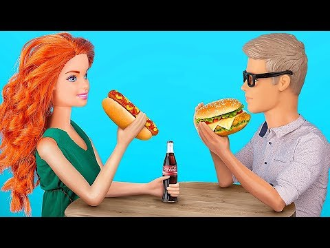 7 Tiny Fast Food For Barbie That You Can Actually Eat / Clever Barbie Hacks And Crafts