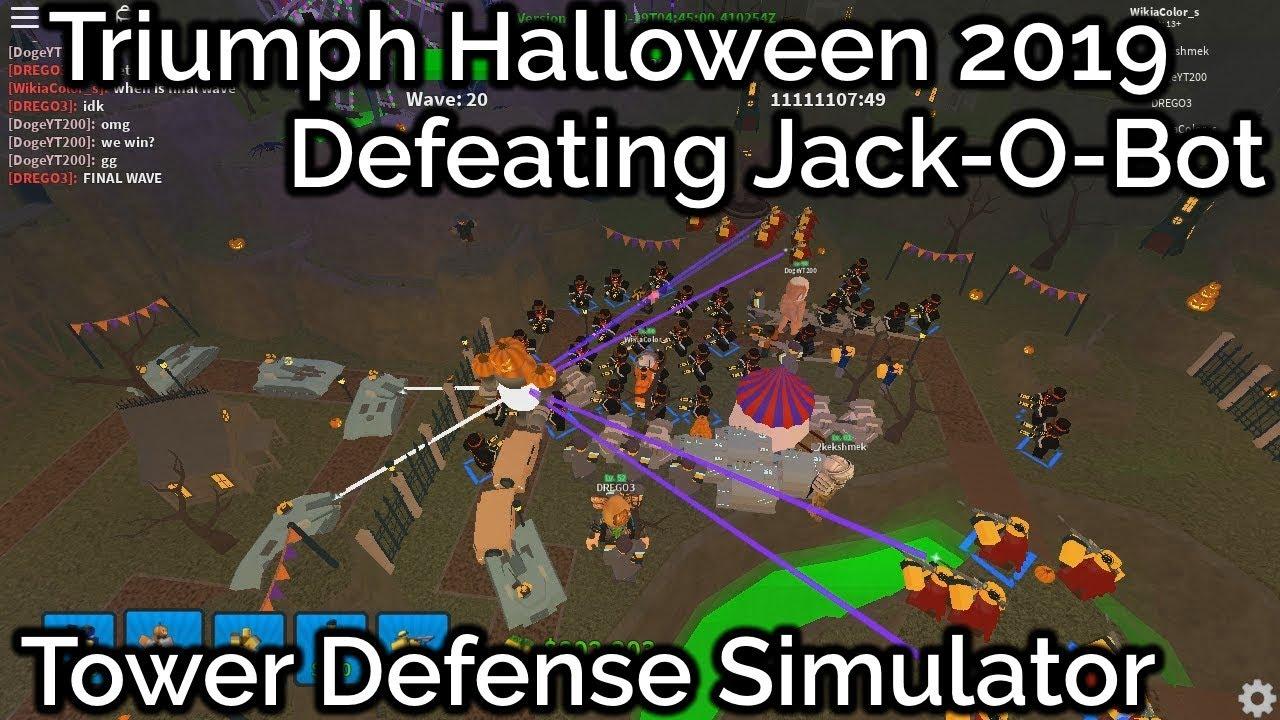 Tower Battles Halloween 2020 How to Triumph Halloween 2019|Tower Defense Simulator   YouTube