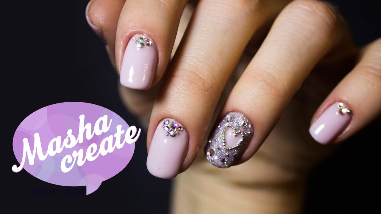 Ногти акриловые дизайн с блестками