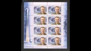 Gagarin on stamps.Гагарин на почтовых марках