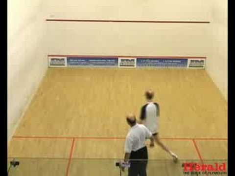 Plymouth Herald News Editor plays squash with Keith White