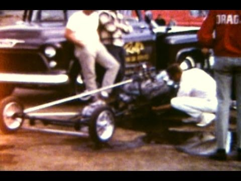 1960's FREMONT, BAYLANDS RACEWAY,  ADDITIONAL FOOTAGE ,VINTAGE  DRAG RACING
