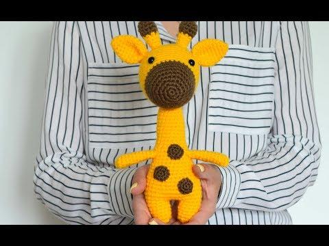 Вязание крючком игрушки жираф видео