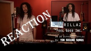Gorillaz - Feel Good Inc | Ten Second Songs 20 Style  Reaction