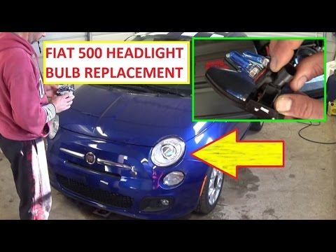 fiat 500 headlight bulb replacement left and right headlight 2008 2015 youtube. Black Bedroom Furniture Sets. Home Design Ideas