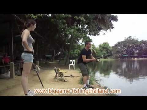 Romano & Jolien on tour fishing chiang mai