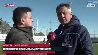 Trabzonspor'da Haluk Şahin'den 61saat'e özel açıklamalar