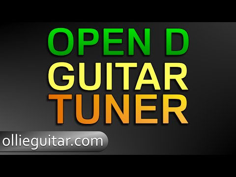 guitar tuner - open d