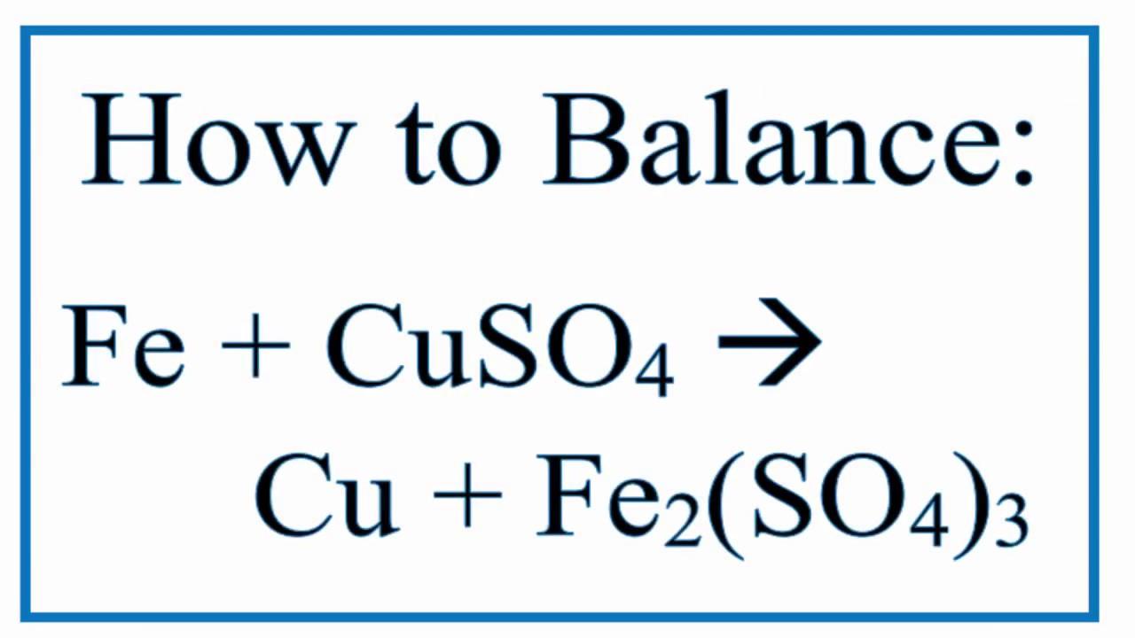 Ferrous Sulfate Formula