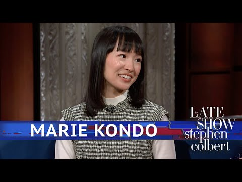Marie Kondo Tidies Up Stephen's 'Late Show' Desk