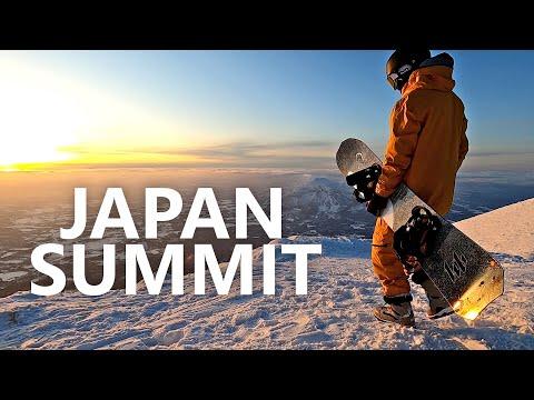 Epic Big Mountain Snowboarding Summit In Japan