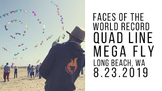 Faces of the Quad Line Mega Fly - World Record 101 Kites